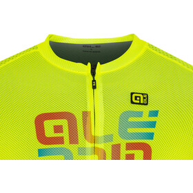 Alé Cycling Solid Mirror SS Jersey Herre flou yellow
